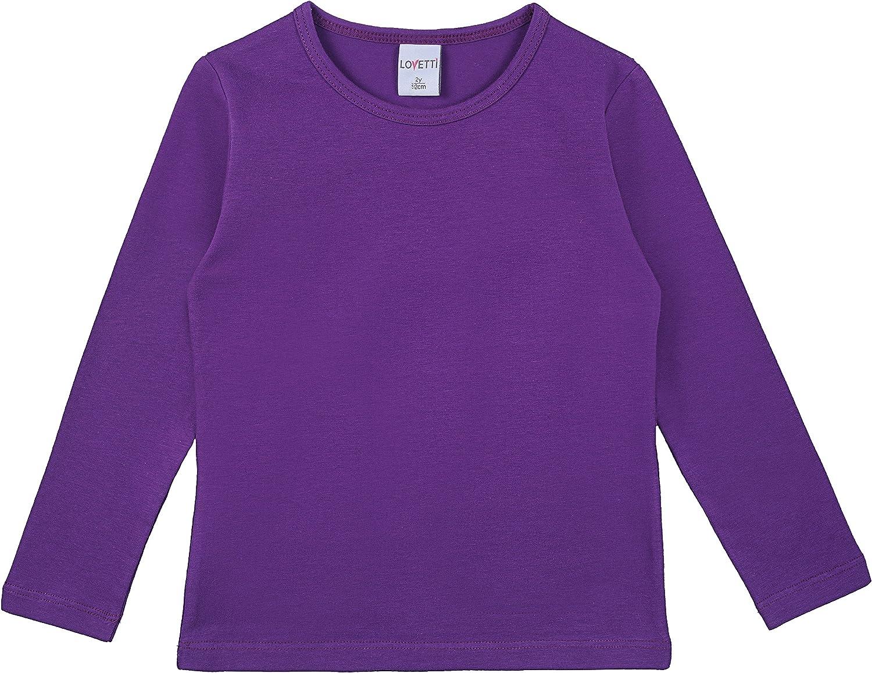 Lovetti Girls Basic Long Sleeve Round Neck T-Shirt