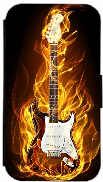 HRK funda con tapa para Samsung Galaxy A7 diseño de guitarra ...