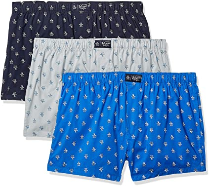 71ae95ce0caa Amazon.com: Original Penguin Men's Underwear 100% Cotton Woven Boxers,  Multipack: Clothing