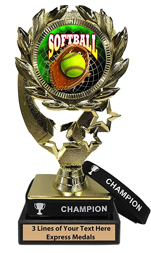 Amazon.com: Trofeo de pelota de softball Express Medals con ...