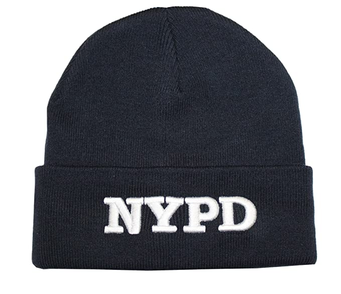 Amazon.com  NYPD Winter Hat New York Police Department Navy   White ... 7504426a4f2