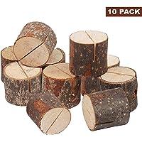 10 x Holz /& Eisen-Draht Kartenhalter Tischnummer Memo Clips für Hochzeit Party