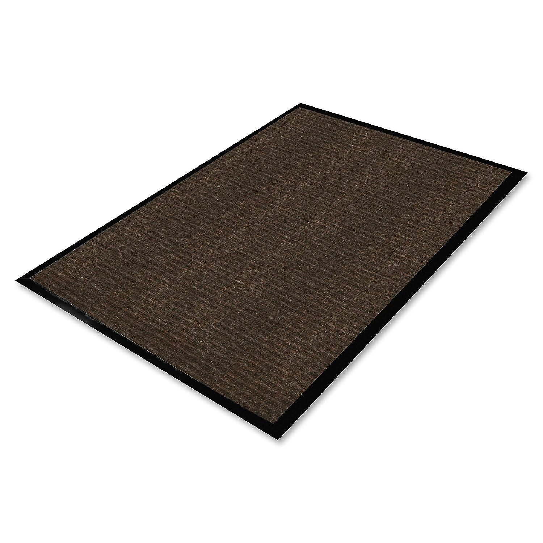 60 Length x 36 Width Genuine Joe GJO02400 Polypropylene//Vinyl Dual Rib Carpet Floor Mat Chocolate 60 Length x 36 Width S.P Richards