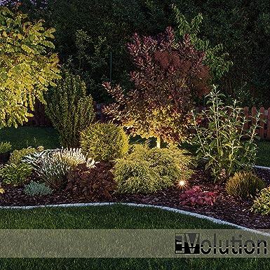 Wegbeleuchtung 3x Evolution LED Gartenstrahler mit Erdspie/ß inkl warmwei/ß Gartenleuchte Spritzwasser gesch/ützt Gartenbeleuchtung 4W GU10 2700K IP65 Gartenlampe Au/ßenleuchte mit Anschlu/ßkabel