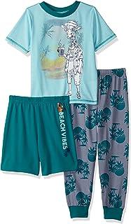 Komar Kids Big Boys' Giraffe Beach Vibes 3 Piece Pajama Set