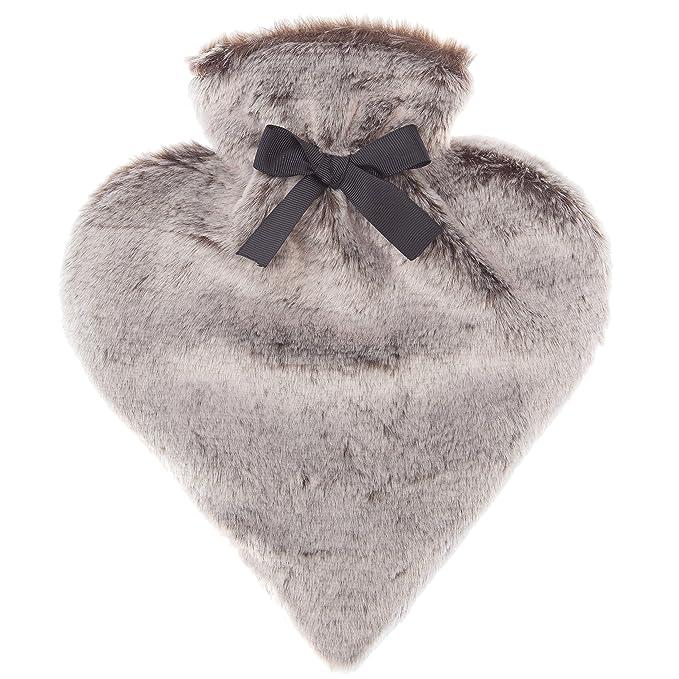 Bolsa térmica con funda imitación de piel - Forma Corazón - Práctico & Diseño - Capacidad 600 ml: Amazon.es: Salud y cuidado personal