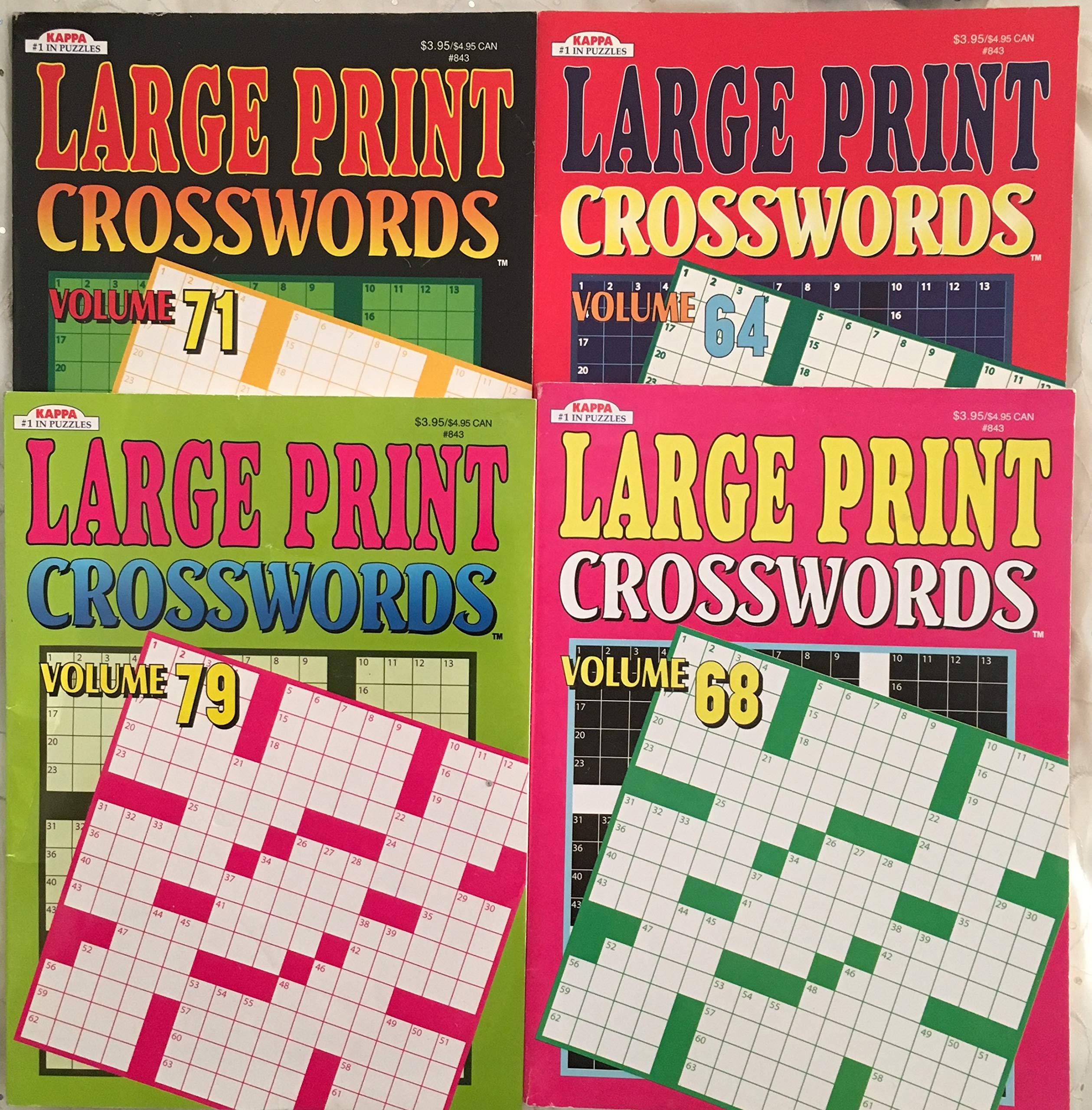 67e96959a3 Lot of (4) Kappa LARGE PRINT Crosswords Full Size Puzzle Books ...