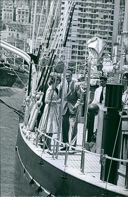 Vintage photo de Rey y reina Juan Carlos I y Sofía de España, en un