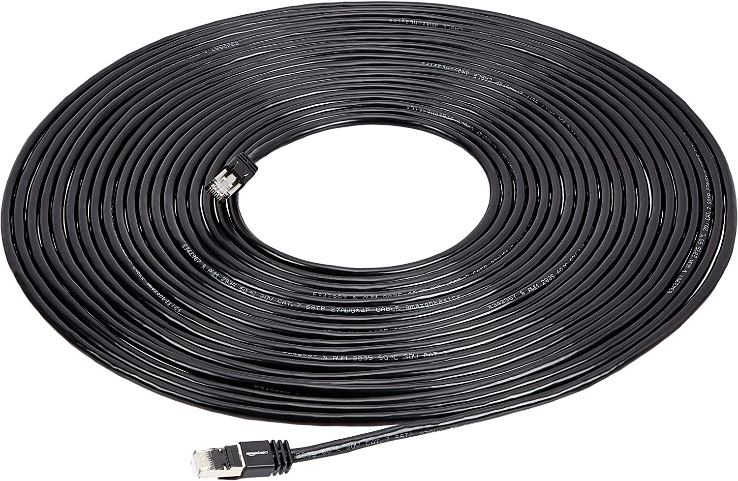 50 Foot White Basics Cat 7 High-Speed Gigabit Ethernet Patch Internet Cable