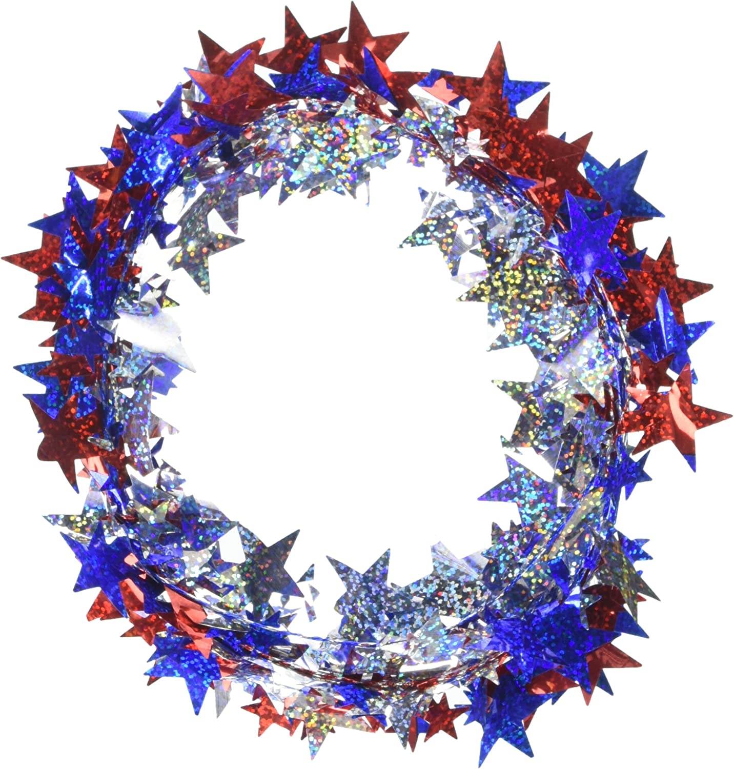 Prismatic Stars Party Wire Garland, 18'