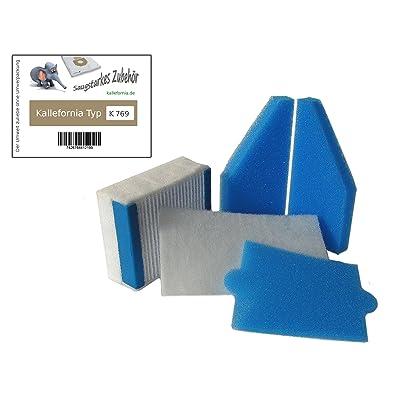Kallefornia® 5pièces Kit filtre HEPA Kallefornia k769Convient pour Thomas Aqua + Anti Allergy et Aqua + Pet & Family