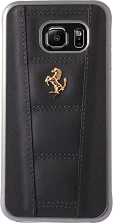 f3e7464ef Image Unavailable. Image not available for. Colour: Ferrari Genuine Leather  Hard Case for Samsung Galaxy S6 Edge ...