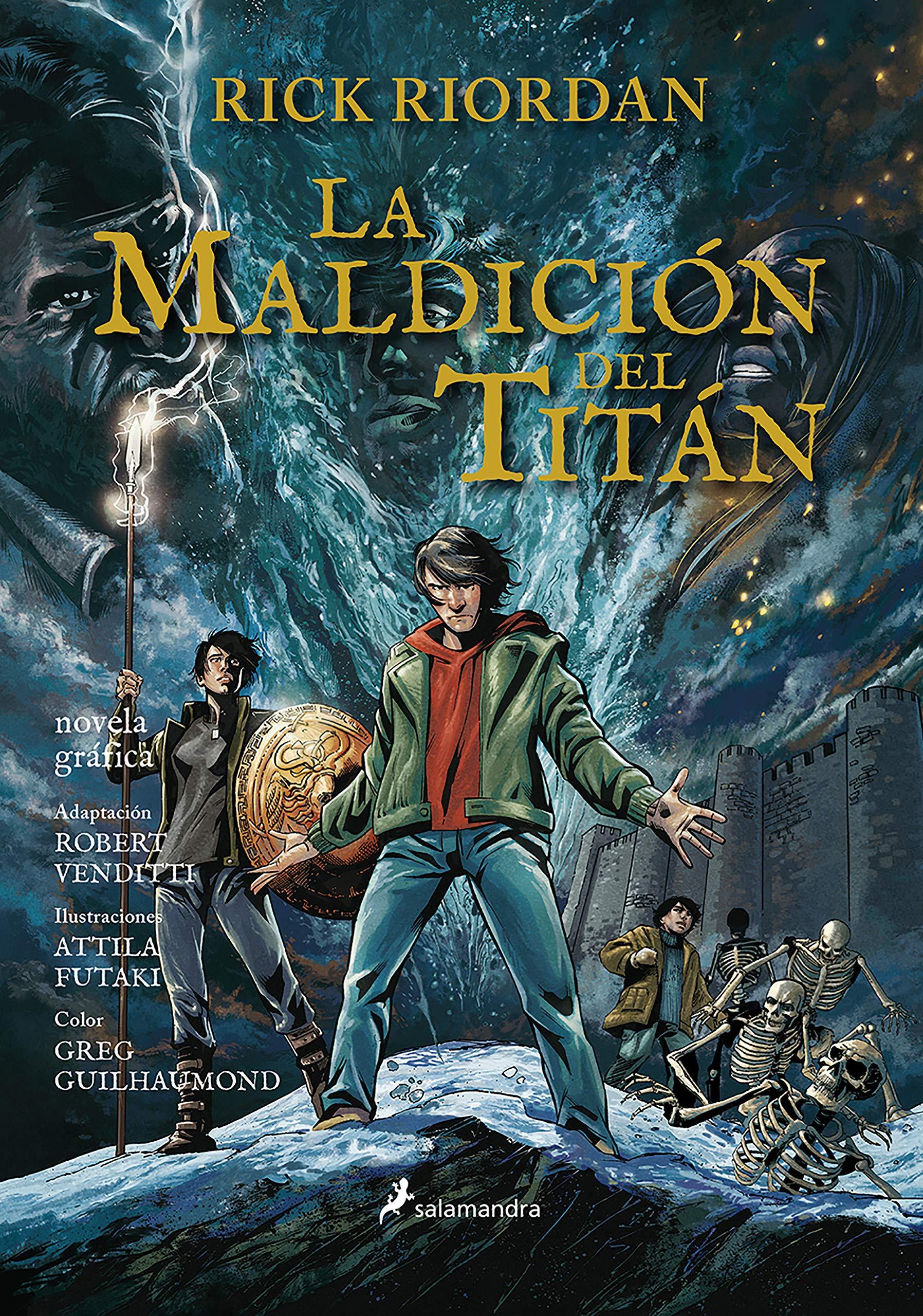 La maldición del Titán Percy Jackson y los dioses del Olimpo novela gráfica 3 : Percy Jackson y los Dioses del Olimpo III: Amazon.es: Riordan, Rick: Libros