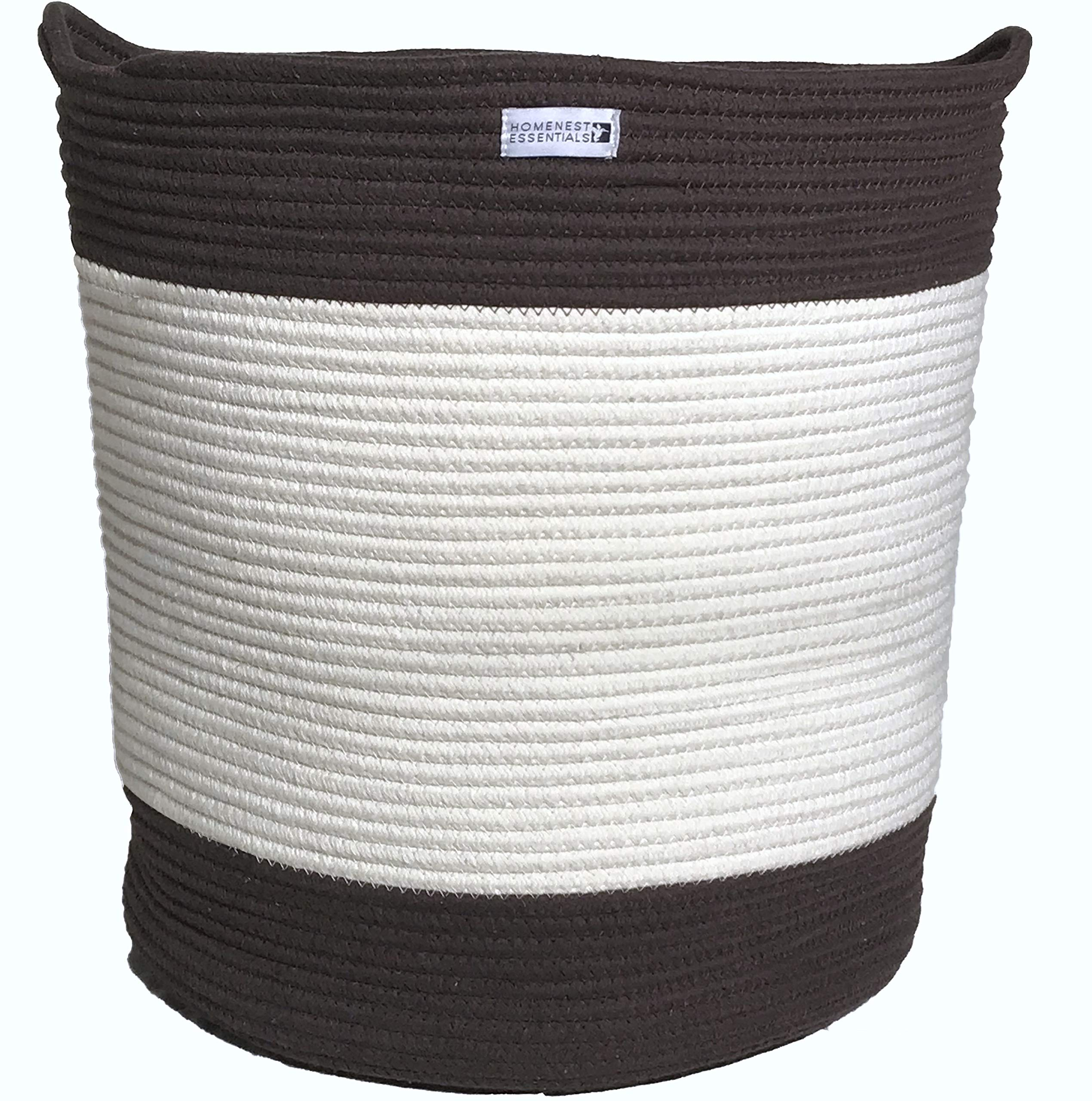 "HOMENEST ESSENTIALS Large Cotton Rope Storage Basket & Container 18"" x 16"" 