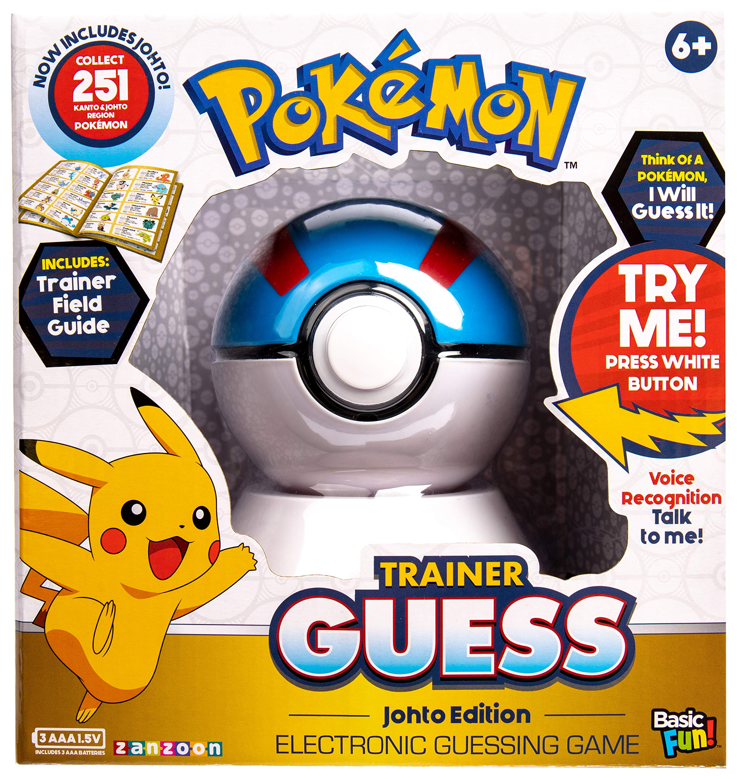 Basic Fun Pokémon Trainer Guess: Johto Edition - Electronic Game