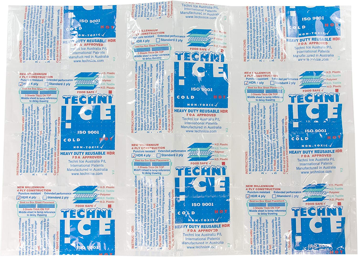 Techni-ICE, Better Than Ice or Gel Packs! Reusable, Dry Ice Replacement - Single Sheet