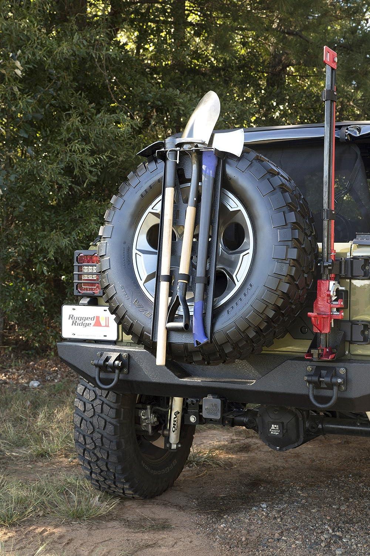 Rugged Ridge 13551.63 Spare Tire Tool Rack System Omix-ADA