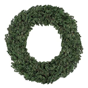"""Northlight 60"""" Commercial Size Canadian Pine Artificial Christmas Wreath - Unlit"""
