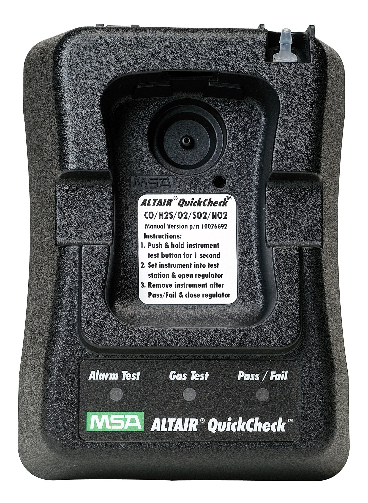 MSA Safety 10076692 Oxygen/Carbon Monoxide/Hydrogen Sulfide/Sulfur Dioxide/Nitrogen Dioxide ALTAIR North American Version QuickCheck Station with Manual Regulator for ALTAIR Pro Single Gas Detector