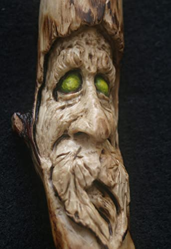 Woodcarving Woodspirit Greenman Pagan Wiccan Earth Magic Wizard TJ Kleens  Tree Face Spirit Of The Woods