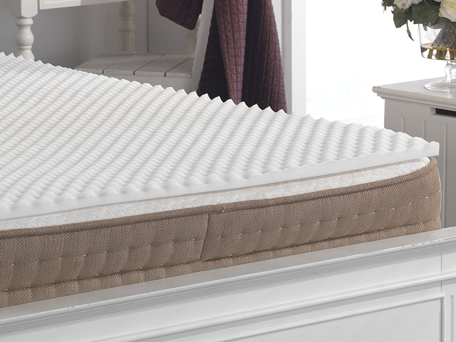 lancashire textiles back support pain relief egg box foam mattress