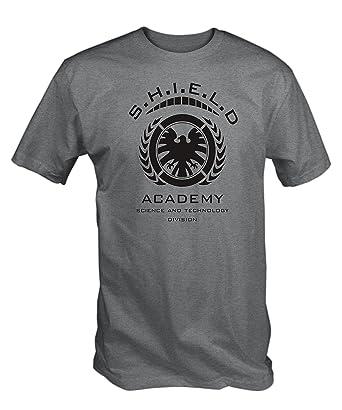 6eab70e84e5a Amazon.com  6TN Mens Shield Academy T Shirt  Clothing