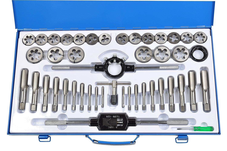 Pro-Lift-Montagetechnik Gewindeschneider Set, metrisch, 45 teilig, M6 - M24, blaue Blechbox, J, 00973