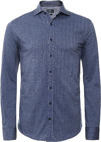 Hackett London Hbone Jersey Camisa para Hombre: Amazon.es: Ropa y accesorios