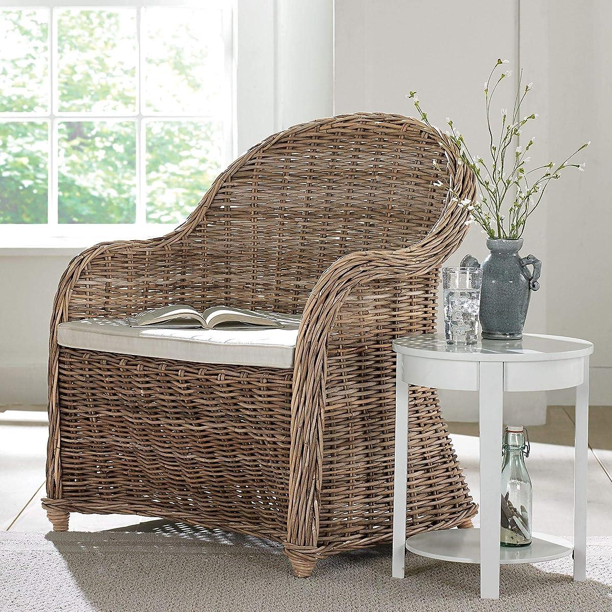 BrylaneHome Whitman Oversized Wicker Chair