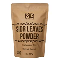 MB Herbals Sidr Leaves Powder 227g   0.5 lb   Lote Leaves   Ziziphus spina christi   Natural Herbal Hair Cleanser & Conditioner
