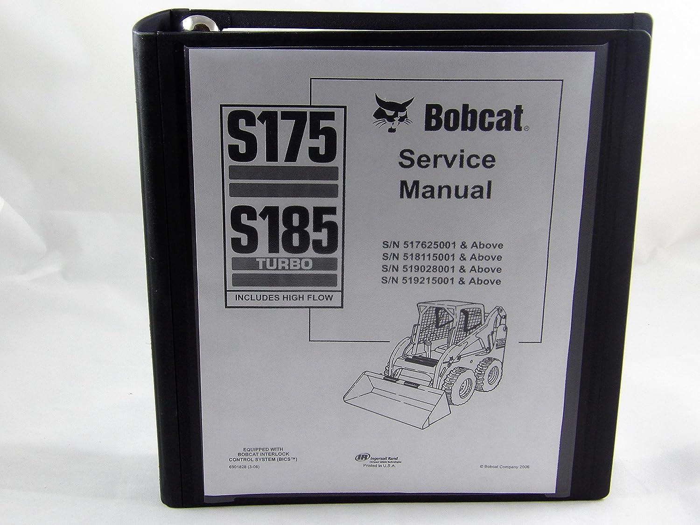 Part Number # 6901828 Bobcat S175 S185 Skid Steer Complete Shop Service Manual