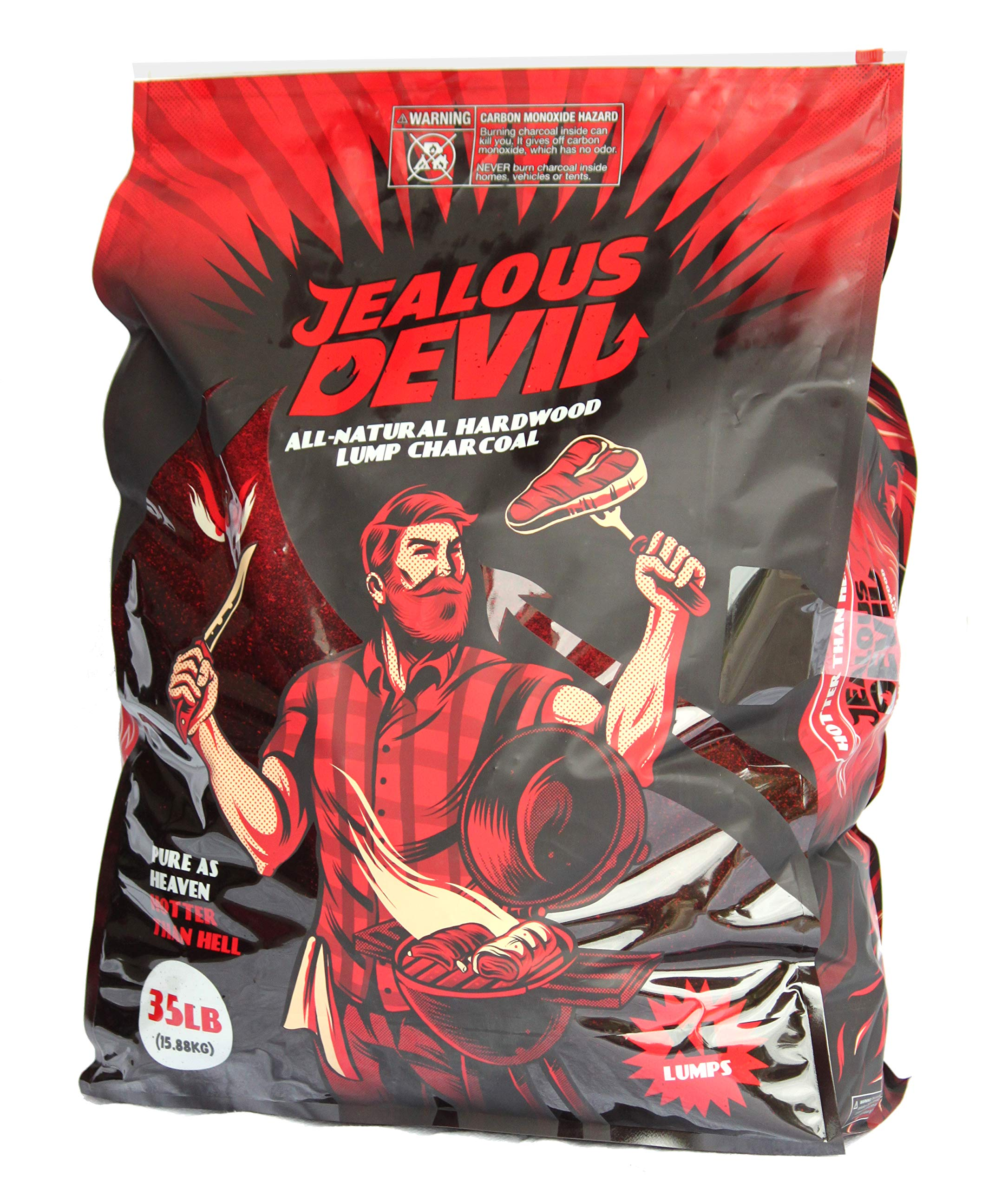Jealous Devil All Natural Hardwood Lump Charcoal - 35LB by Jealous Devil