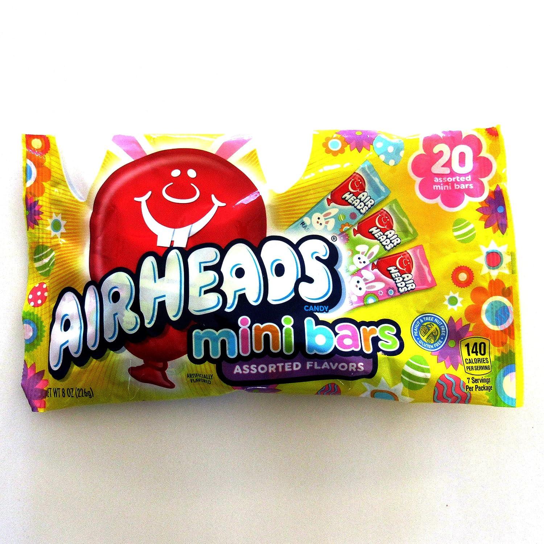 Airheads (1 bag) Easter Mini Bars Candy - Strawberry, Green Apple, Blue Raspberry - 8 oz / 226 g