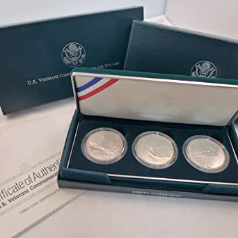 """2012-W Military Commemorative Proof Silver Dollar """"Defenders Of Freedom"""" Set"""