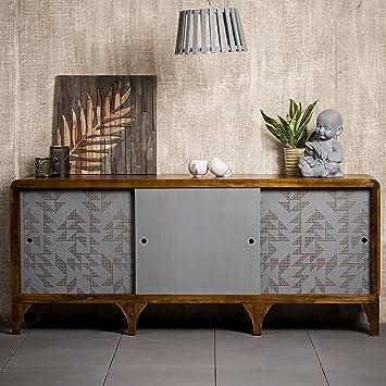 Native Home Sideboard Holz Mit Muster Modern Massiv Mit Turen