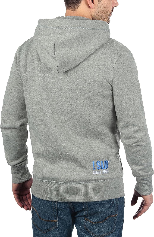 !Solid BennZip Herren Sweatjacke Kapuzenjacke Hoodie mit Kapuze und Reißverschluss Light Grey Melange (8242)