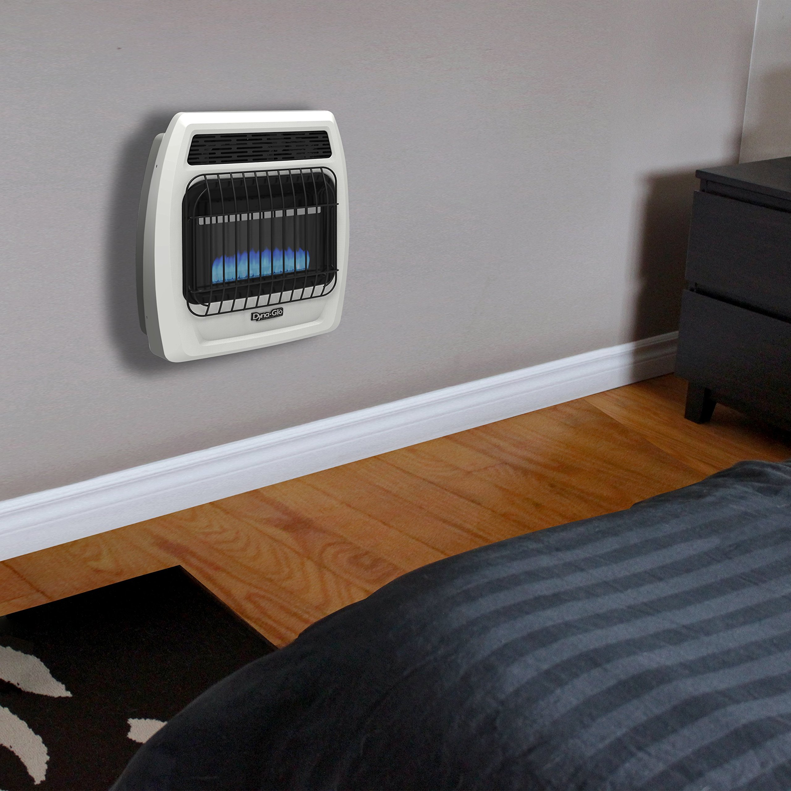 Dyna Glo BFSS10LPT-2P 10,000 Btu Liquid Propane Blue Flame Vent Free Thermostatic Wall Heater 10K LP T-Stat by Dyna-Glo (Image #2)