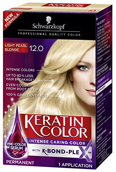 Schwarzkopf Keratin Color Anti Age Hair Color Cream 12 0 Light Pearl Blonde Packaging May Vary