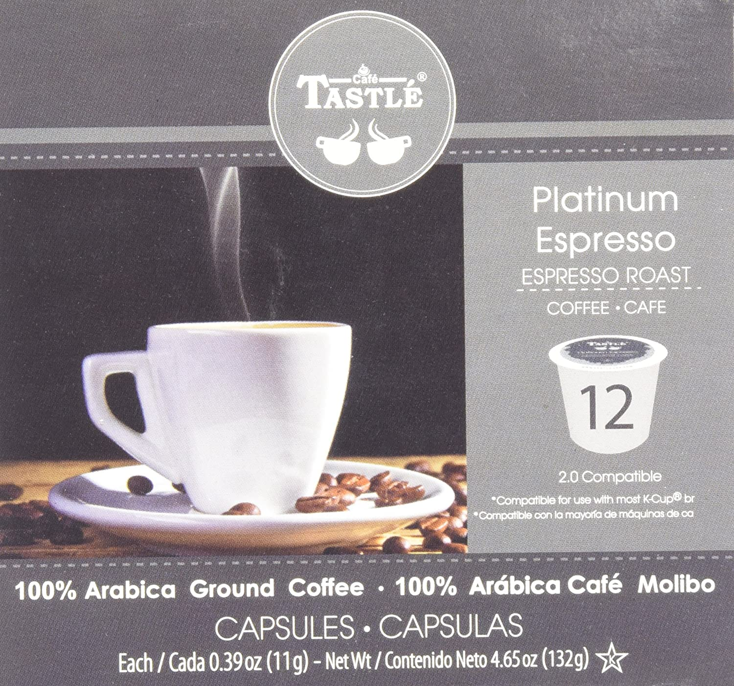Cafe Tastlé Platinum Espresso Roast Single Serve Coffee, 12 Count (Pack of 6): Amazon.com: Grocery & Gourmet Food