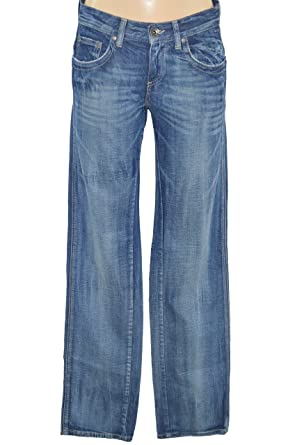 IKKS JEANS FEMME STRETCH - COUPE DROITE REGULAR - JEAN BLEU STONE USED - TAILLE  34 fd976a4ad67e