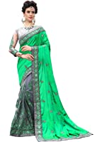 Panash Trends Women's Heavy Embroidered & Hand Work Stone Saree (UJJ.K710)