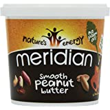 Meridian Amazon Smooth Peanut Butter 100 Percent Nuts 1 kg (Pack of 2)