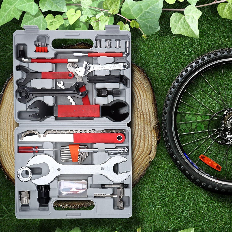 Yorbay Kit de Caja de Herramientas de Bicicleta 48 en 1 Juego de ...