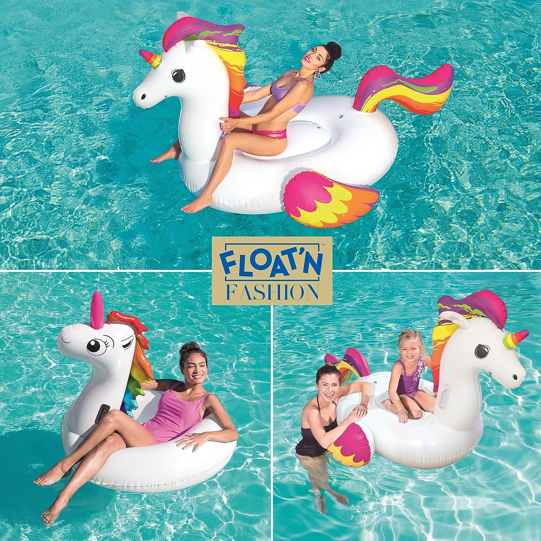 Amazon.com: Bestway - Unicornio de natación (88.2 x 64.6 in ...
