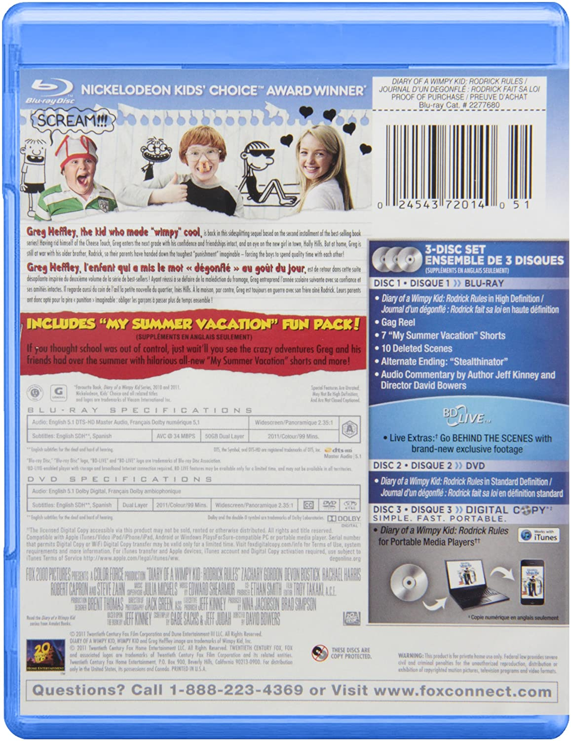 Amazon Com Diary Of A Wimpy Kid 2 Blu Ray Movies Tv