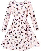Girls Dress Oak Print Light Pink Long Sleeve Princess Age 2-10 Years