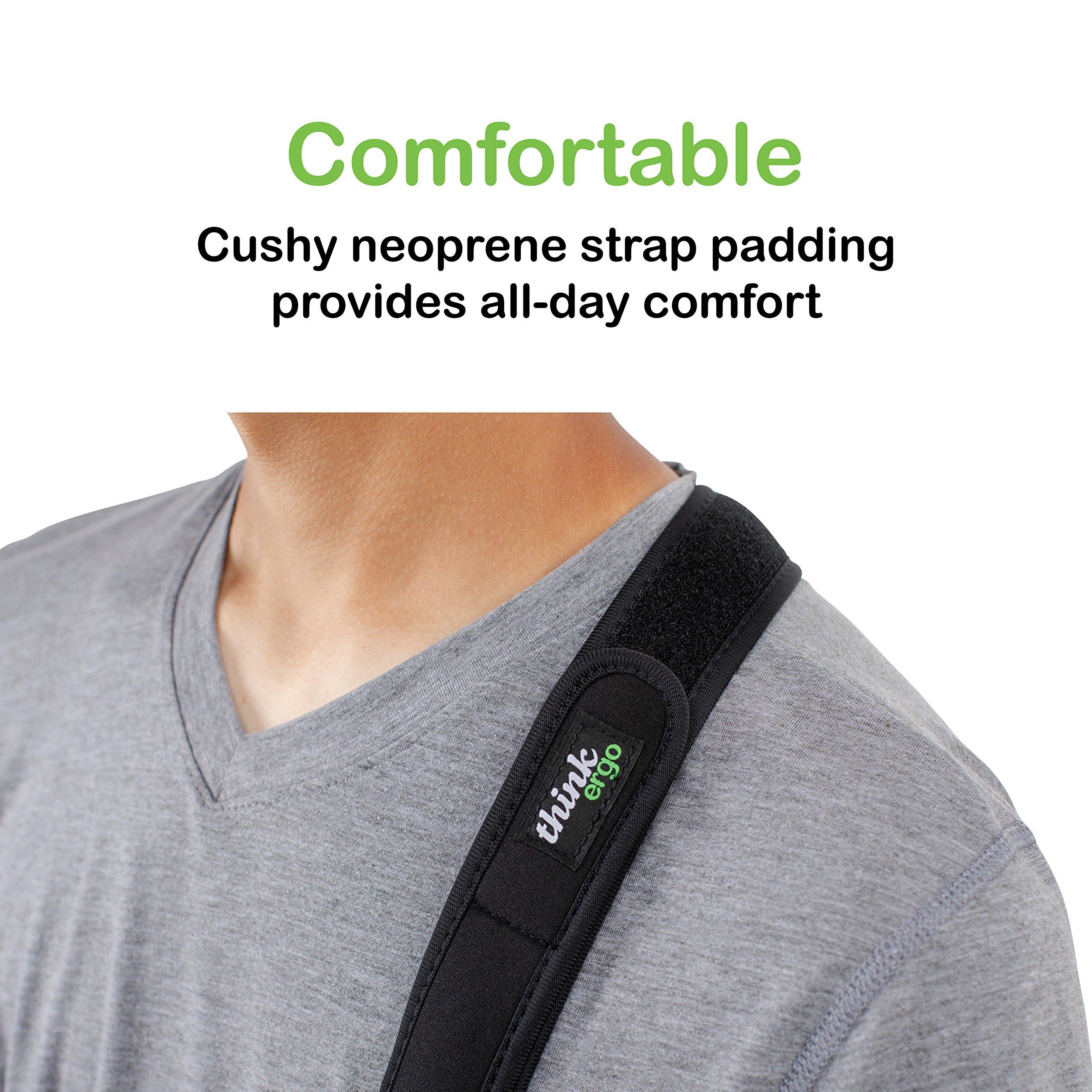 Think Ergo Arm Sling Sport - Lightweight, Breathable, Ergonomically Designed Medical Sling for Broken & Fractured Bones - Adjustable Arm, Shoulder & Rotator Cuff Support (Adult) by Think Ergo (Image #6)