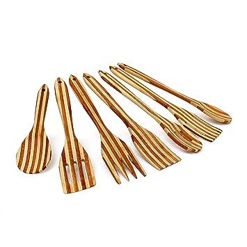 Küchenhelfer Set  praktisch Bambus 6 tlg