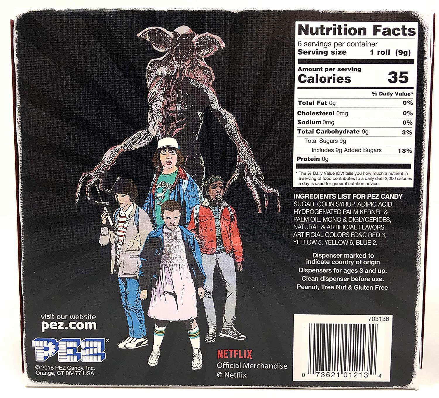 Amazon.com : PEZ Stranger Things Gift Set Dispensers Plus 6 Candy Refills - Eleven and Mike Pez Dispensers : Grocery & Gourmet Food