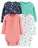Carter's Baby Girls 4-Pack Original Long Sleeve